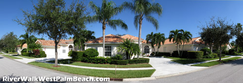 Imagine living on a street like this one in RiverWalk of West Palm Beach, FL. A house like this could be your new home.